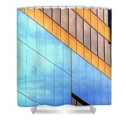 Blue Glass Reflections 4999 Shower Curtain