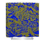 Blue Gold 40 Shower Curtain