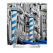 Blue Gondolas Shower Curtain