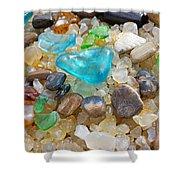 Blue Green Seaglass Coastal Beach Baslee Troutman Shower Curtain by Baslee Troutman