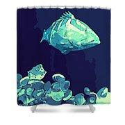 Blue Grouper Shower Curtain