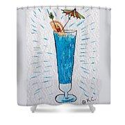 Blue Hawaiian Cocktail Shower Curtain