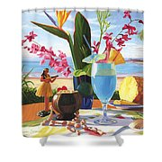 Blue Hawaiian Shower Curtain