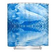 Blue Healing Shower Curtain
