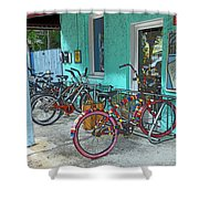 Blue Heaven Key West Bicycles Shower Curtain
