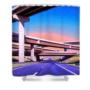 Blue Highway 7 Shower Curtain