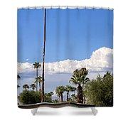Blue Horizon Palm Springs Shower Curtain