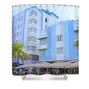 Blue Hotels Shower Curtain