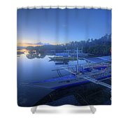 Blue Hour At Panglao Port Shower Curtain