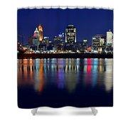 Blue Hour In Cincinnati Shower Curtain