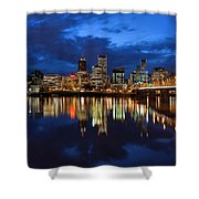 Blue Hour Reflection II Shower Curtain