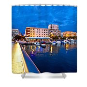 Blue Hour Zadar Waterfront View Shower Curtain