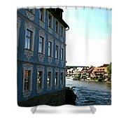 Blue House - Bamberg Shower Curtain