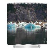 Blue Ice Flows Shower Curtain