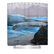 Blue Ice Shower Curtain