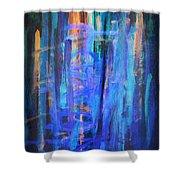 Blue Impression Shower Curtain