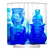 Blue In The Face Shower Curtain