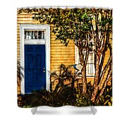 Blue In The Tropics Shower Curtain