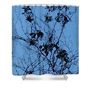 Blue Ink Shower Curtain