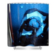 Blue Instant Shower Curtain