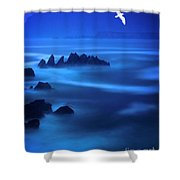 Rock Of Blues Shower Curtain