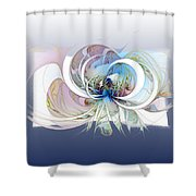 Blue Is The Colour Of My Love II Shower Curtain