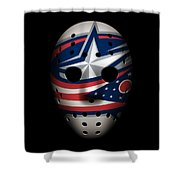 Blue Jackets Goalie Mask Shower Curtain