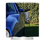 Blue Javelin Fender Shower Curtain