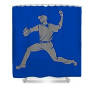 Blue Jays Shadow Player1 Shower Curtain