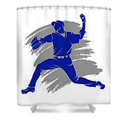 Blue Jays Shadow Player2 Shower Curtain