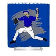 Blue Jays Shadow Player3 Shower Curtain