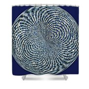 Blue Jean Patch  Shower Curtain