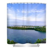 Blue Lagoon Cottages Shower Curtain