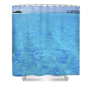 Blue Lagoon. Shower Curtain