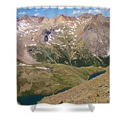 Blue Lakes Shower Curtain