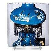 Blue Lamp Shower Curtain
