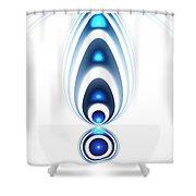 Blue Light Shower Curtain