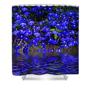 Blue Lobelia Shower Curtain