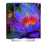 Blue Lotus Shower Curtain