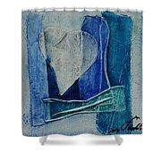 Blue Love 11 Shower Curtain