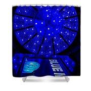 Blue Man Group Chandelier Shower Curtain