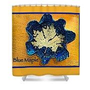 Blue Maple Leaf Dish 2 Shower Curtain