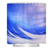 Blue Marvel. Lighten Your Day With Music Shower Curtain