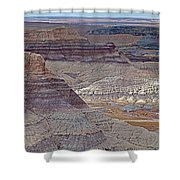 Blue Mesa At Petrified Forest National Park-arizona Shower Curtain