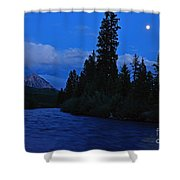 Blue Missing You Shower Curtain