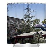 Blue Monorail Fairytale Arts Disneyland Shower Curtain