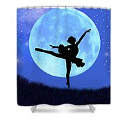 Blue Moon Ballerina Shower Curtain