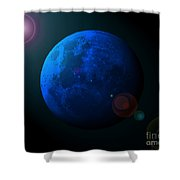 Blue Moon Digital Art Shower Curtain by Al Powell Photography USA