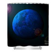 Blue Moon Digital Art Shower Curtain