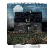 Blue Moon Rising Shower Curtain